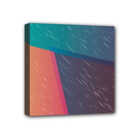 Modern Minimalist Abstract Colorful Vintage Adobe Illustrator Blue Red Orange Pink Purple Rainbow Mini Canvas 4  X 4  by Mariart