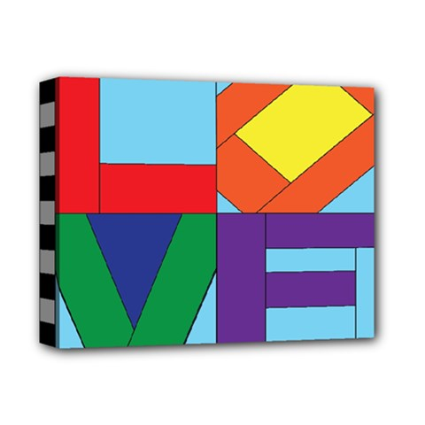Rainbow Love Deluxe Canvas 14  X 11  by Mariart