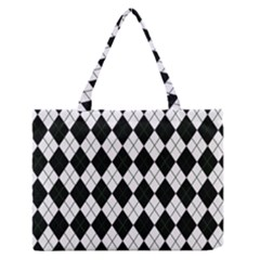 Plaid pattern Medium Zipper Tote Bag by Valentinaart