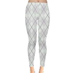 Plaid pattern Leggings  by Valentinaart