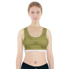 Lines Pattern Sports Bra With Pocket by Valentinaart