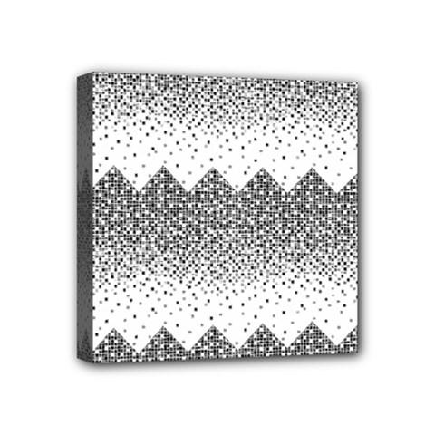 Original Plaid Chevron Wave Mini Canvas 4  X 4  by Mariart