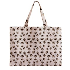 Autumn Leaves Motif Pattern Medium Tote Bag by dflcprints