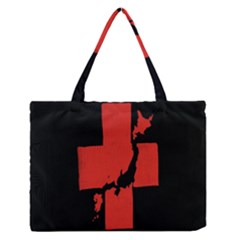 Sign Health Red Black Medium Zipper Tote Bag by Mariart