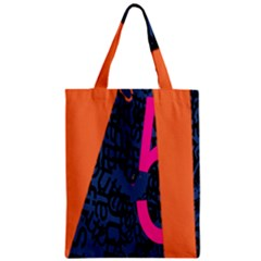 Recursive Reality Number Zipper Classic Tote Bag by Mariart