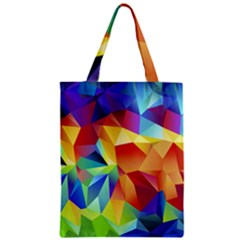 Triangles Space Rainbow Color Zipper Classic Tote Bag by Mariart