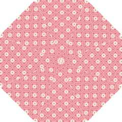Sunflower Star White Pink Chevron Wave Polka Hook Handle Umbrellas (small) by Mariart