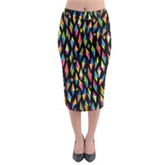 Skulls Bone Face Mask Triangle Rainbow Color Midi Pencil Skirt by Mariart