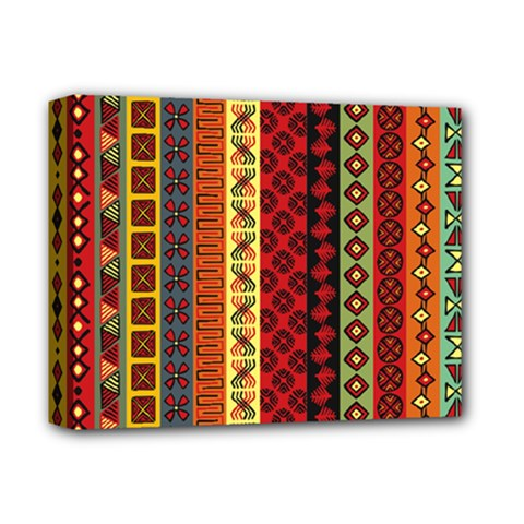 Tribal Grace Colorful Deluxe Canvas 14  X 11  by Mariart
