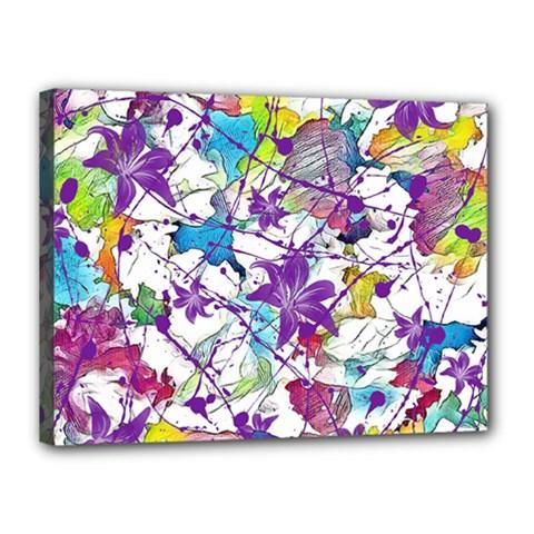 Lilac Lillys Canvas 16  X 12  by designworld65