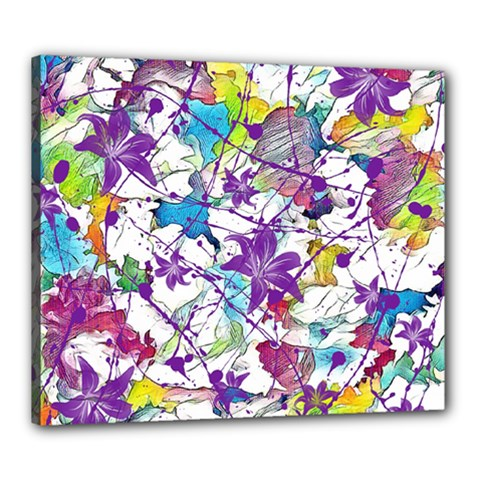 Lilac Lillys Canvas 24  X 20  by designworld65