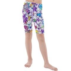 Lilac Lillys Kids  Mid Length Swim Shorts by designworld65