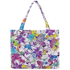 Lilac Lillys Mini Tote Bag by designworld65