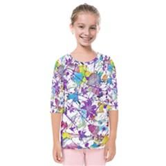 Lilac Lillys Kids  Quarter Sleeve Raglan Tee by designworld65