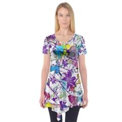 Lilac Lillys Short Sleeve Tunic  by designworld65