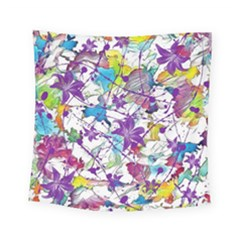 Lilac Lillys Square Tapestry (small) by designworld65