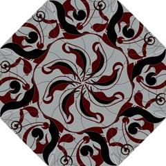 Floral Pattern Hook Handle Umbrellas (large) by Valentinaart