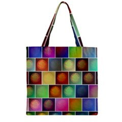 Multicolored Suns Zipper Grocery Tote Bag by linceazul