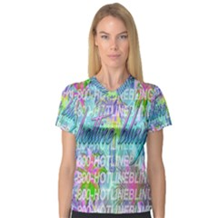 Drake 1 800 Hotline Bling Women s V Neck Sport Mesh Tee by Onesevenart