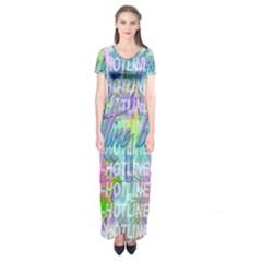 Drake 1 800 Hotline Bling Short Sleeve Maxi Dress by Onesevenart