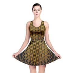 Bring Me The Horizon Cover Album Gold Reversible Skater Dress by Onesevenart