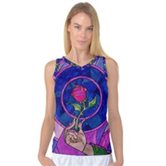 Enchanted Rose Stained Glass Women s Basketball Tank Top by Onesevenart