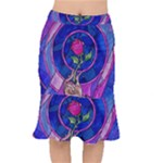 Enchanted Rose Stained Glass Mermaid Skirt