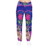 Enchanted Rose Stained Glass Drawstring Pants