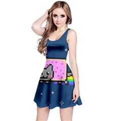 Nyan Cat Reversible Sleeveless Dress by Onesevenart