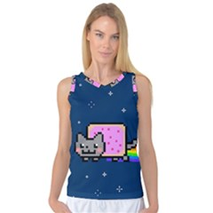 Nyan Cat Women s Basketball Tank Top by Onesevenart