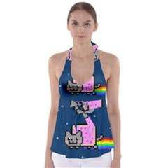 Nyan Cat Babydoll Tankini Top by Onesevenart
