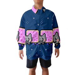 Nyan Cat Wind Breaker (kids) by Onesevenart
