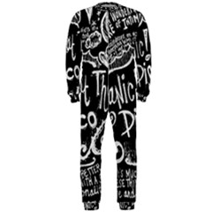 Panic ! At The Disco Lyric Quotes Onepiece Jumpsuit (men)  by Onesevenart