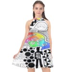 Panic ! At The Disco Halter Neckline Chiffon Dress