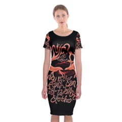Panic At The Disco   Lying Is The Most Fun A Girl Have Without Taking Her Clothes Classic Short Sleeve Midi Dress by Onesevenart