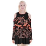 Panic At The Disco   Lying Is The Most Fun A Girl Have Without Taking Her Clothes Velvet Long Sleeve Shoulder Cutout Dress
