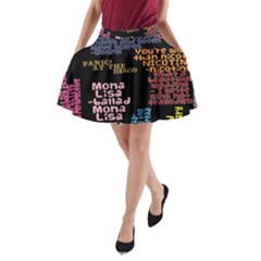Panic At The Disco Northern Downpour Lyrics Metrolyrics A Line Pocket Skirt by Onesevenart