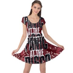 Panic At The Disco Poster Cap Sleeve Dresses by Onesevenart