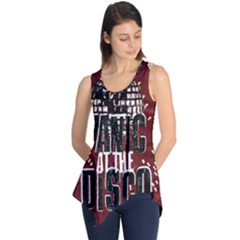 Panic At The Disco Poster Sleeveless Tunic by Onesevenart