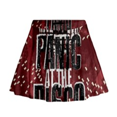 Panic At The Disco Poster Mini Flare Skirt by Onesevenart