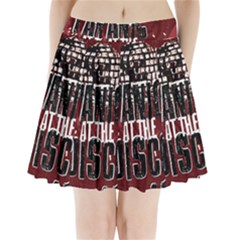 Panic At The Disco Poster Pleated Mini Skirt by Onesevenart