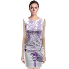 Panic At The Disco Classic Sleeveless Midi Dress by Onesevenart