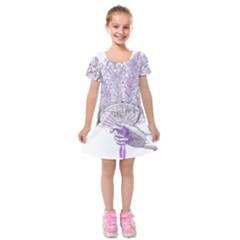 Panic At The Disco Kids  Short Sleeve Velvet Dress by Onesevenart