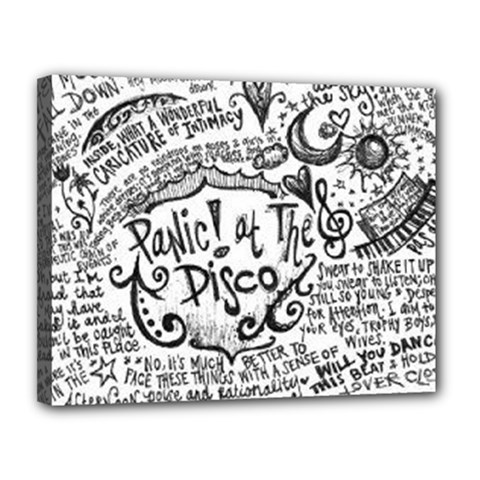Panic! At The Disco Lyric Quotes Canvas 14  X 11  by Onesevenart
