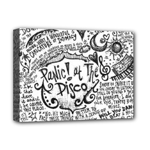Panic! At The Disco Lyric Quotes Deluxe Canvas 16  X 12   by Onesevenart