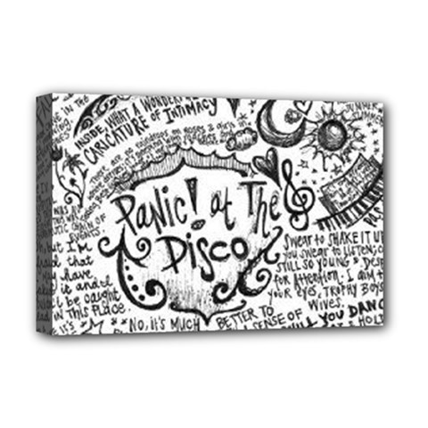 Panic! At The Disco Lyric Quotes Deluxe Canvas 18  X 12   by Onesevenart