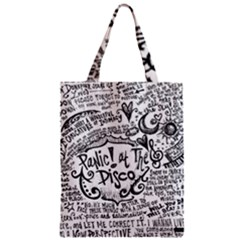 Panic! At The Disco Lyric Quotes Zipper Classic Tote Bag by Onesevenart