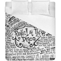 Panic! At The Disco Lyric Quotes Duvet Cover (california King Size) by Onesevenart