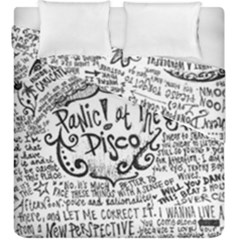 Panic! At The Disco Lyric Quotes Duvet Cover Double Side (king Size) by Onesevenart
