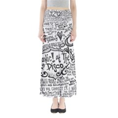 Panic! At The Disco Lyric Quotes Maxi Skirts by Onesevenart